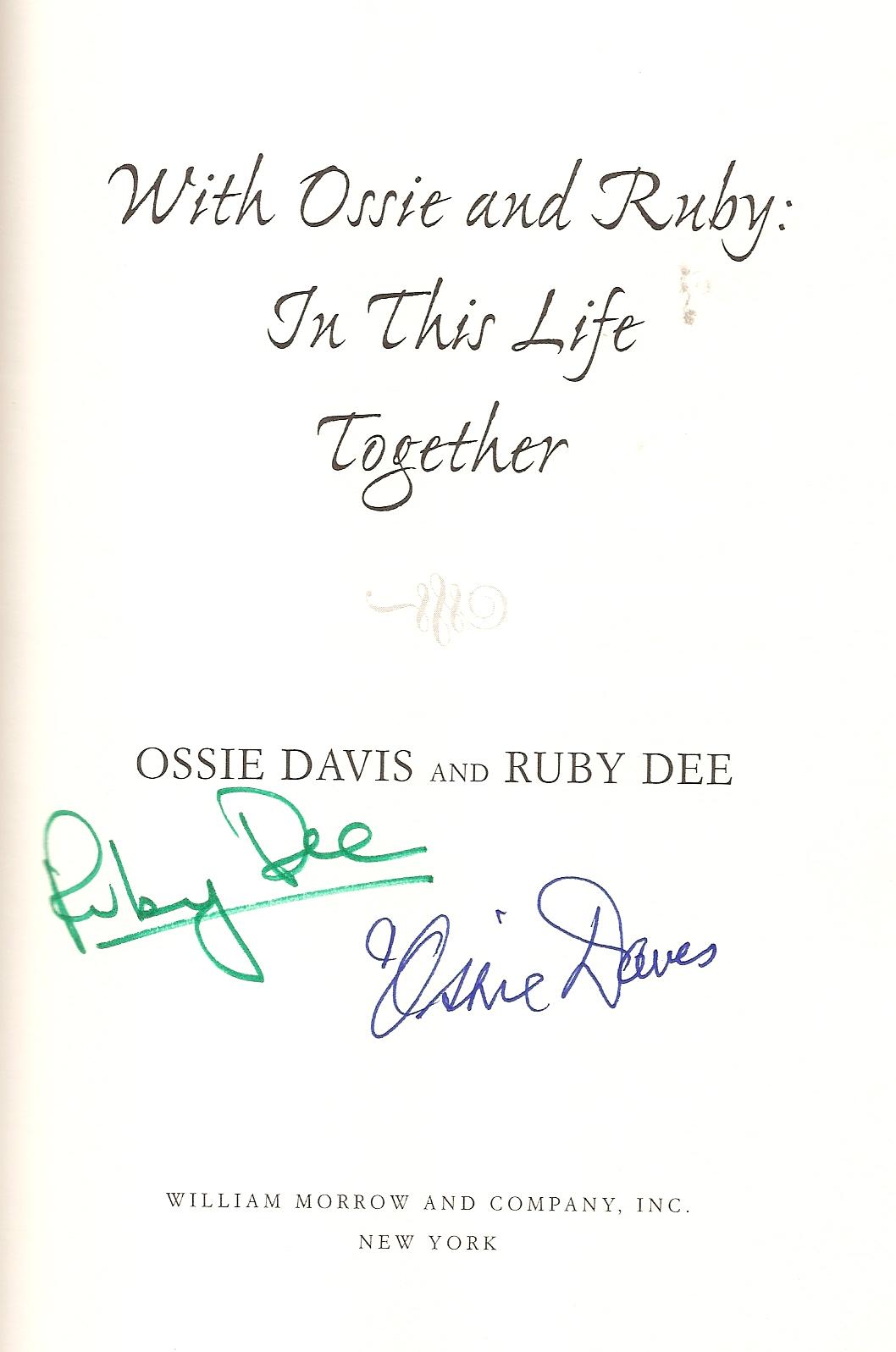 Ruby Dee, Ossie Davis